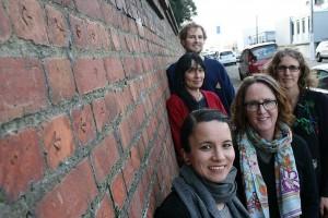 Pukeahu Exploratory Anthology Team: Rosie Persival, Lynn Davidson, Ingrid Horrocks, Lena Fransham and Thomas Aitken